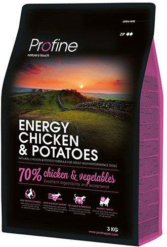 Сухой корм для собак Profine Energy Курица 3кг