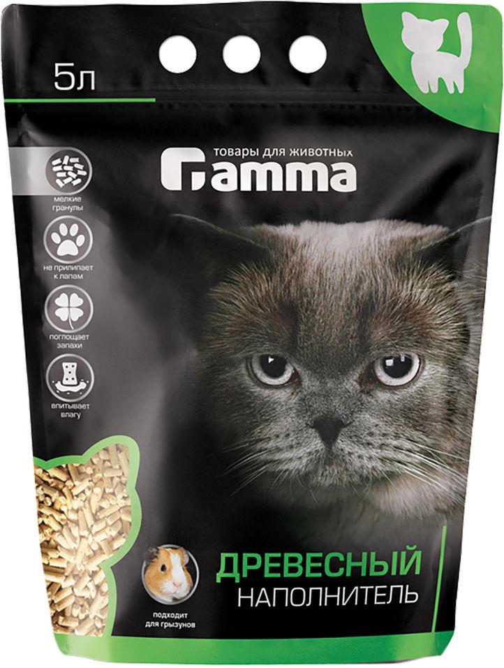 Отзывы о Наполнителе для кошачьего туалета Gamma древесный 5л