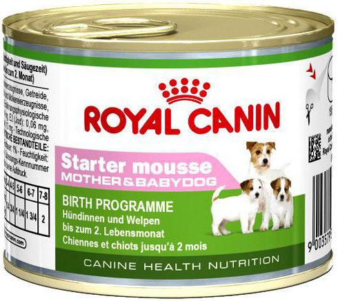 Корм для щенков Royal Canin Starter Mousse Птица 195г