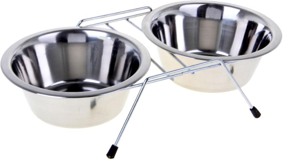 Миски для собак Lilli Pet Double Dinner стальные на подставке 2*250мл