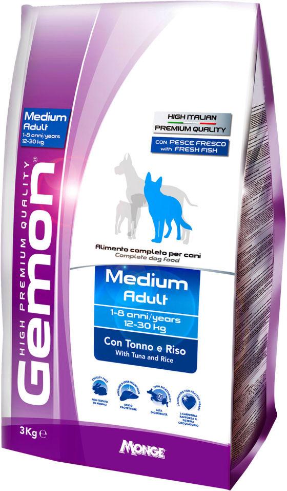 Сухой корм для собак Gemon Dog Medium для средних пород тунец с рисом 3кг
