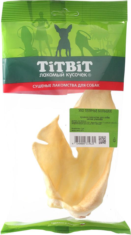 Лакомство для собак TiTBiT Ухо телячье 27г