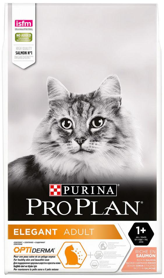Сухой корм для кошек Pro Plan Elegant с лососем 10кг