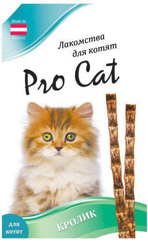 Лакомство для котят Pro Cat Лакомые палочки Кролик 13.5см 9г