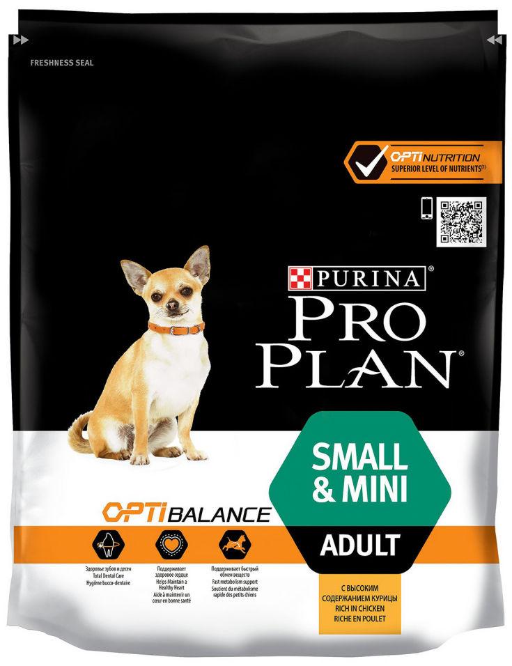 Сухой корм для собак Pro Plan Optibalance Small&Mini Adult с курицей и рисом 700г