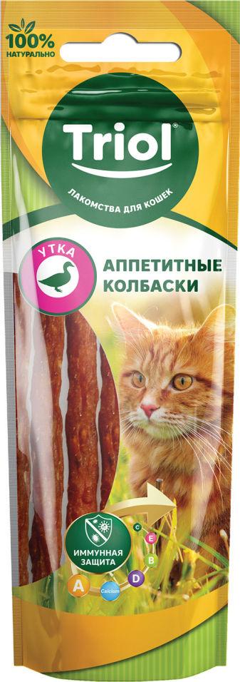 Отзывы о Лакомстве для кошек Triol Аппетитные колбаски из утки 40г