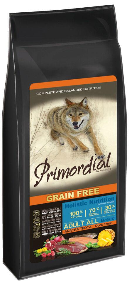 Сухой корм для собак Primordial Форель и Утка 400г