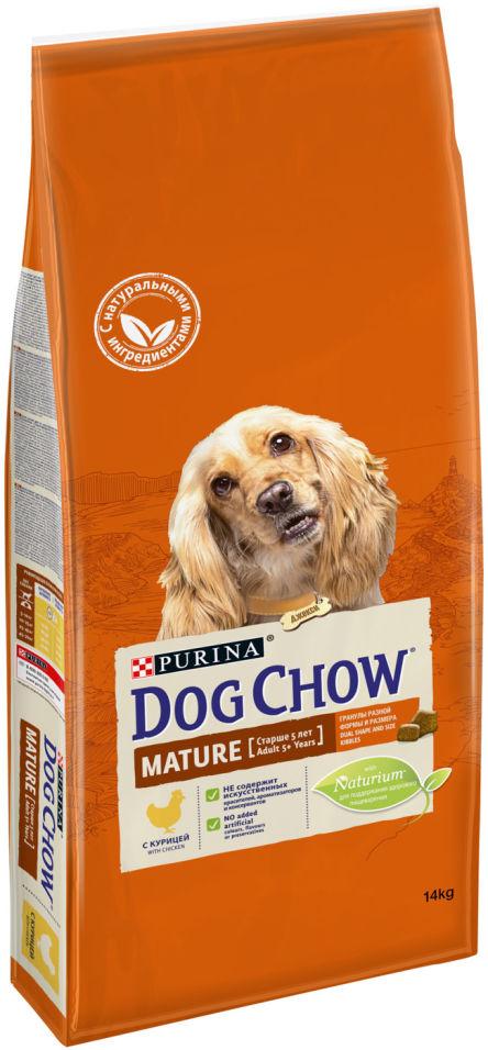 Сухой корм для собак Dog Chow Mature Adult 5+ с курицей 14кг