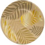 Тарелки бумажные Gratias Golden foliage d23 6шт