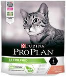 Сухой корм для стерилизованных кошек Pro Plan Optirenal Sterilised с лососем 400г
