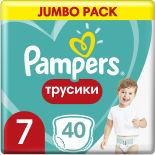 Трусики Pampers Pants 17+ кг Размер 7 40шт