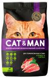 Сухой корм для кошек Cat&Man для стерилизованных кошек с курицей и овощами 350г