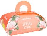 Подарочный набор Cafe Mimi Цветочная история Бурлящий шар 120г и Мыло глицериновое 80г