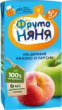 Сок ФрутоНяня Яблоко-персик 200мл