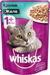 Корм для кошек Whiskas желе с кроликом и овощами 85г