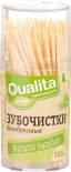 Зубочистки Qualita бамбуковые 100шт