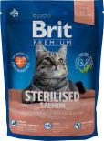 Сухой корм для стерилизованных кошек Brit Premium лосось и курица 300г