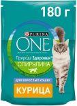 Сухой корм для кошек Purina One с курицей 180г