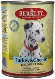 Корм для собак Berkley Индейка и сыр 400г