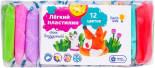 Набор для детской лепки Genio Kids Легкий пластилин 12 цветов