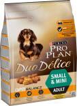 Сухой корм для собак Pro Plan Duo Delice Small&Mini Adult для мелких пород с курицей 2.5кг