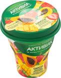 Био йогурт питьевой Активиа Смусси Клубника Ананас манго амарант папайя 1% 250г