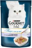 Корм для кошек Gourmet Perle соус делюкс с телятиной 85г