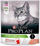 Сухой корм для стерилизованных кошек Pro Plan Optisenses Sterilised с лососем 400г
