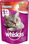 Корм для кошек Whiskas Мясной паштет из говядины с печенью 85г