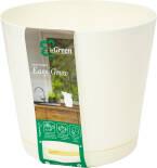 Горшок для цветов InGreen Easy Grow Сливочный 2л