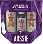 Подарочный набор Aussie Шампунь 300мл + Реконструктор волос 3 Minute Miracle 250мл + Масло для волос 3 Miracle Oil 100мл