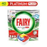 Капсулы для посудомоечных машин Fairy Platinum Plus All in One Лимон 40шт