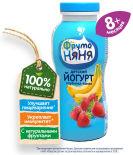 Йогурт питьевой ФрутоНяня Клубника-Банан 2.5% с 8 месяцев 200мл