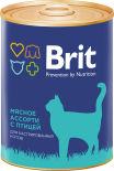 Корм для кошек Brit Мясное ассорти с птицей для кастрированных 340г