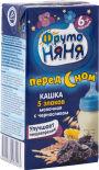Каша ФрутоНяня Молочная 5 злаков с черносливом 200мл