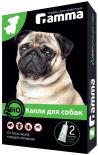 Капли для собак Gamma от паразитов 2 пипетки*1мл