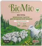 Таблетки для посудомоечных машин BioMio Bio-Total с маслом эвкалипта 30шт