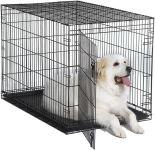 Клетка для собак Midwest iCrate однодверная черная 122*76*84см