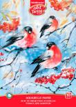 Альбом для рисования Art Berry Снегири бумага для акварели А4 10л