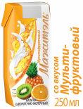 Напиток сывороточно-молочный Мажитэль Мультифруктовый 250мл