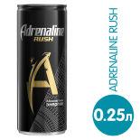 Напиток Adrenaline Rush энергетический 250мл