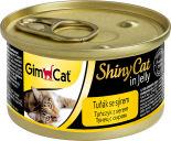 Корм для кошек GimCat ShinyCat из тунца с сыром 70г