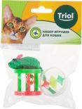 Набор игрушек для кошек Triol Мяч мышка и барабан