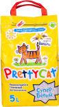 Наполнитель для кошачьего туалета PrettyCat комкующийся ароматизированный 4.2кг