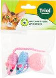 Набор игрушек для кошек Triol XW7005 2 мышки