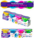 Тесто-пластилин Genio Kids Неоновые 4 цвета