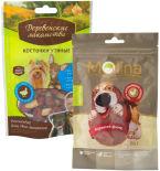 Набор Лакомство для собак Molina Куриное филе 80г + Лакомство для собак Деревенские лакомства Косточки утиные 55г
