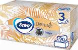 Салфетки бумажные Zewa Deluxe Дизайн косметические 3 слоя 90шт