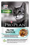 Влажный корм для стерилизованных кошек Pro Plan Nutri Savour Sterilised кусочки в желе с океанической рыбой 85г
