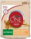 Сухой корм для собак Purina One для активных собак с курицей и рисом 600г